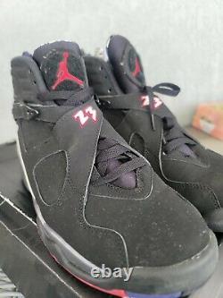 Nike Air Jordan 8 VIII Retro Playoff 2013 Taille 9 305381-061 Noir Blanc Rouge Og