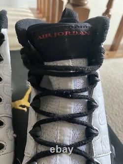 Nike Air Jordan 9 IX Rétro Og Space Jam Blanc Noir Rouge Noir 2016 302370-112 Taille 9,5