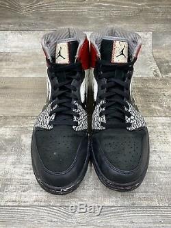 Nike Air Jordan I Retro 1 Haut Dave Blanc Rouge Noir Ciment Blanc 464803-001 11.5