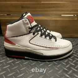 Nike Air Jordan II 2 Rétro Qf Chicago Blanc/noir/rouge 395709-101 Sz 8