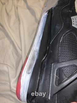 Nike Air Jordan IV 4 Retro Bred Black Red Cement 2012 Taille 13 308497-089