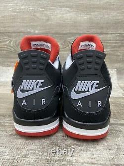 Nike Air Jordan IV 4 Rétro Og Bred 10.5 308497-060 Noir Rouge Blanc Cement Gris