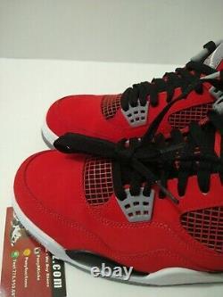 Nike Air Jordan IV 4 Rétro Toro Bravo Fire Red Black Cement Grey 308497-603 10.5