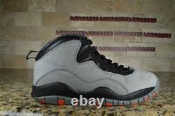 Nike Air Jordan Retro 10 X Cool Grey Noir Infrarouge Rouge Gris Taille 9.5 310805-023
