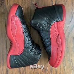 Nike Air Jordan Retro 12 XII Grippe Jeu 2016 Rouge Noir Bred Og Sz 9,5 130690-002