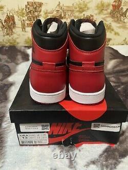Nike Air Jordan Retro 2013 1 One High Og Bred Noir Blanc Rouge 555088-023 Sz 13