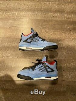 Nike Air Jordan Retro 4 IV Travis Scott Cactus Jack Bleu Noir Rouge 308497-406 11