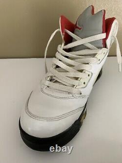 Nike Air Jordan Retro V 5 Feu Rouge Blanc Noir Taille 9 136027-100