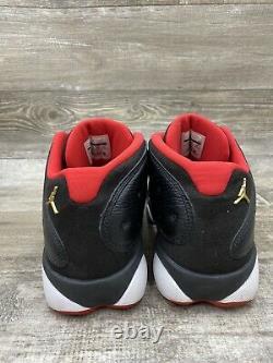 Nike Air Jordan Retro XIII 13 Faible Bred Noir Rouge Blanc Playoffs 310810-027 Sz 12