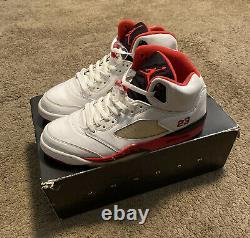 Nike Air Jordan V 5 Rétro Blanc Feu Rouge Noir 2006 Taille 11,5 136027-162 Og Tous