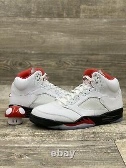Nike Air Jordan V 5 Rétro Fire Red 2020 Da1911-102 Taille 11 Gris Rouge Noir Blanc