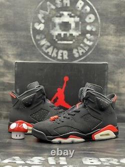 Nike Air Jordan VI 6 Retro Infrared Black Red Metallic Size 10.5 384664-060 2019
