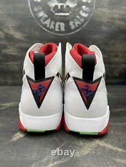 Nike Air Jordan VII 7 Retro Hare 2015 304775-125 Blanc Rouge Jaune Noir Taille 13