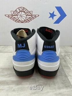 Nike Air Jordan X Converse Pack 10.5 Unc Retro 2 Blanc Noir Rouge Bleu 917931-900
