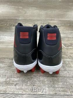 Nike Air Jordan XI Retro Blanc Éliminatoire Bred Crampons Noir Rouge Td Sz 11 Ao1561-010