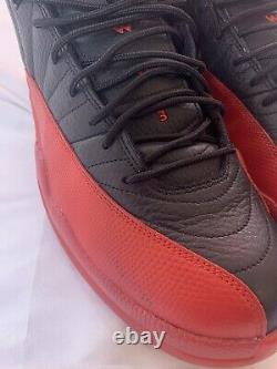 Nike Air Jordan XII 12 Retro Flu Game Size 12 Noir Blanc Rouge 2016 130690-002 Og