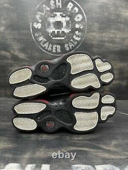 Nike Air Jordan XIII 13 Retro Noir Rouge Dirty Bred Blanc Og Taille 13 414571-003