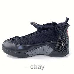 Nike Air Jordan XV 15 Retro Sz 12 Stealth Black Red Anthracite Bred 881429-001