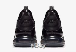Nike Air Max 270 Noir / Blanc / Rouge Solaire / Anthracit Stock Limité Toutes Tailles
