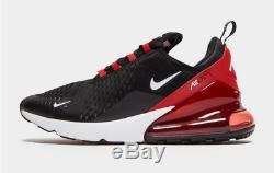 Nike Air Max 270 Royaume-uni Noir-rouge Hommes Taille 7-10 Formateurs Exclusive Special Edition