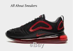 Nike Air Max 720 Formateurs Black-red Men Stock Limite Toutes Les Tailles