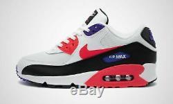 Nike Air Max 90 Essential Blanc Noir Rouge Violet Chaussures Baskets 6 12