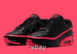 Nike Air Max 90 Invaincu Rouge Noir Cj7197-003 Chaussures De Course Taille Homme 10.5 Nouveau