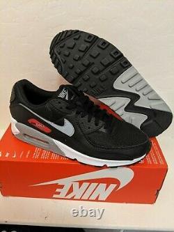 Nike Air Max 90 Premium Bred Chaussures Noir/rouge Taille Homme 10 Cw7481-002 Nouveau