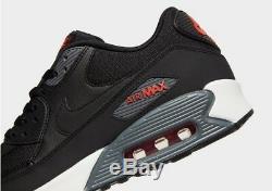 Nike Air Max 90 Se Noir Rouge Blanc Chaussures De Course Baskets