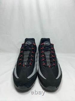 Nike Air Max 95 Logo Homme Taille 11 Blk/blk-habanero Red Cw7477 001