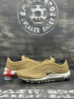Nike Air Max 97 Og Qs Metallic Gold Noir Blanc 2017 Rouge 884421-700 Taille 13