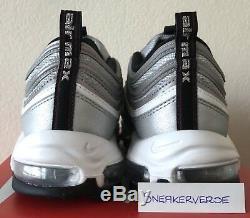Nike Air Max 97 Og Qs Silver Bullet Noir Rouge Uk 10 884421 001 Rare Limitée