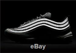 Nike Air Max 97 Og Qs Silver Bullet Noir Rouge Uk 10 884421 001 Rare Limitée Ds