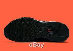 Nike Air Max 98 Black Red Gold Chaussures De Formateurs Femmes Uk 3 7.5 Stock Limité