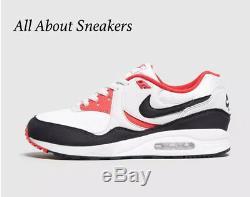 Nike Air Max Light Og Blanc-noir-rouge Trainer Pour Homme Stock Toutes Les Tailles Ezi