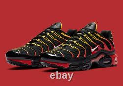 Nike Air Max Plus Running Shoes Black Chile Red Cz9270-001 Nouveau Pour Homme