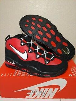 Nike Air Max Uptempo Taureau Away Noir/rouge/blanc Hommes Chaussures Taille 8-13 Ck0892-600