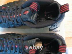 Nike Air One Foamposite 1 Chaussures 2010 Contre La Toux Black Drop Red Men Bottom Pro 10 10.5