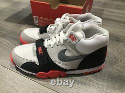 Nike Air Trainer 1 MID Prm Qs Blanc Gris Noir Rouge 607081-100 Taille 10