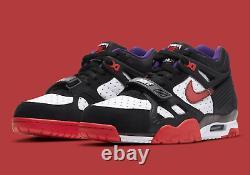 Nike Air Trainer 3 Chaussures Dracula Halloween Noir Rouge Blanc Dc1501-001 Hommes Nouveau