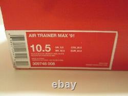 Nike Air Trainer Homme Max'91 309748 008 Black Red Bo Jackson Sz 10,5