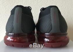 Nike Air Vapormax Flyknit Bred Noir Rouge Uk 10 849558 013 Off White Jordan Ds