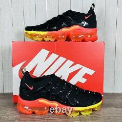 Nike Air Vapormax Plus Noir Coucher De Soleil Orange Rouge Dj5525-001 Hommes Taille 8-14 Rare