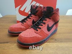 Nike Dunk High Gym Rouge Taille 12 Suède Élevé 2019 Style 904233-600 Rouge Noir