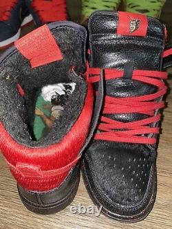 Nike Dunk High Pro Premium Sb Krampus Black Varsity Red Qs Us Taille 8 Hommes