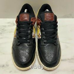 Nike Dunk Low Aztec Pack 2011 Taille 9 Noir / Rouge / Gum Brown Vtg Sb 318019 016