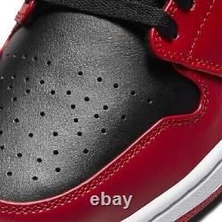 Nike Hommes Air Jordan 1 Low I Aj1 Inverse Bred Chaussures Blanc Rouge Noir 553558-606