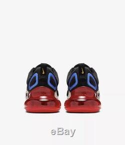 Nike Hommes Air Max 720 Noir Rouge Bleu Taille 9 Uk 44 Eu (ao2924-014)