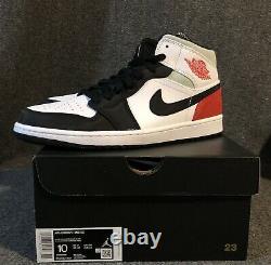 Nike Jordan 1 MID Se Union Black Toe Men Taille 10 852542-100 Aj1 Noir Blanc Rouge