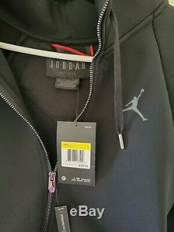 Nike Jordan Sport Vol Tech Noir Rouge Hoodie Sz Hommes Petit (939940-010)